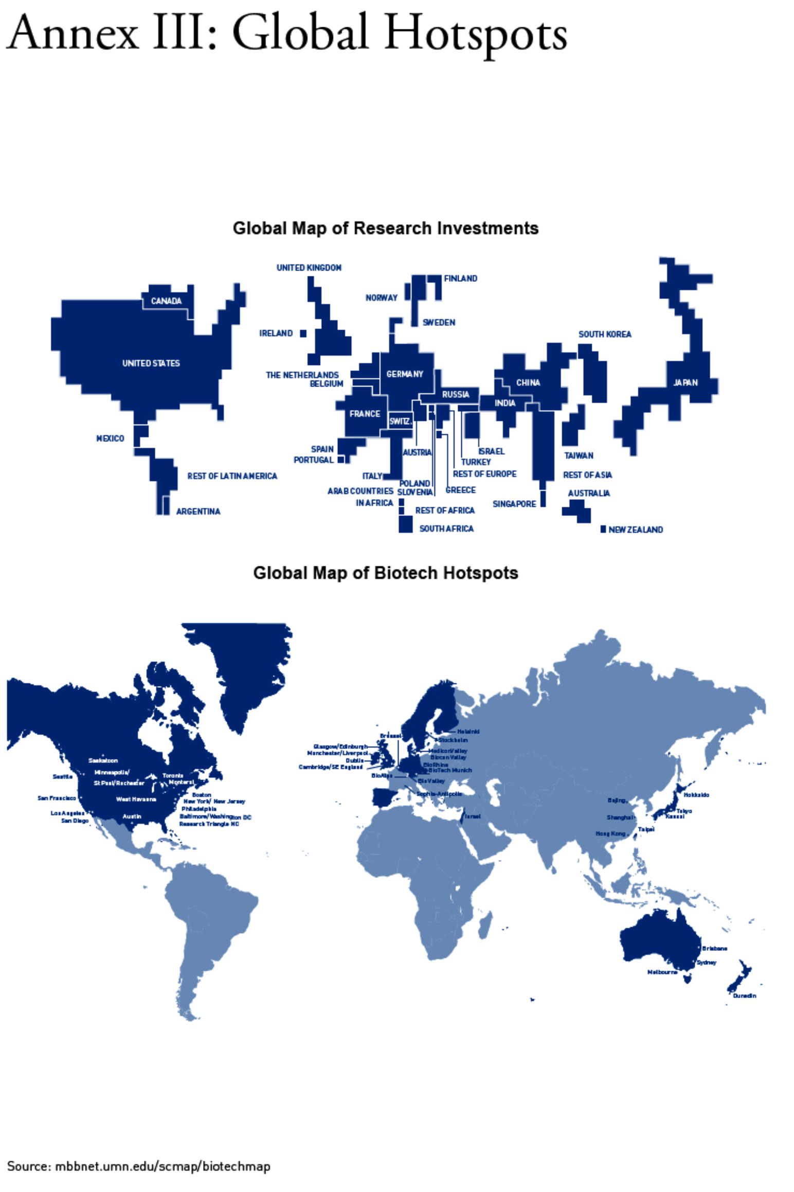 Global Biotechnology Clusters Map - Us cluster mapping