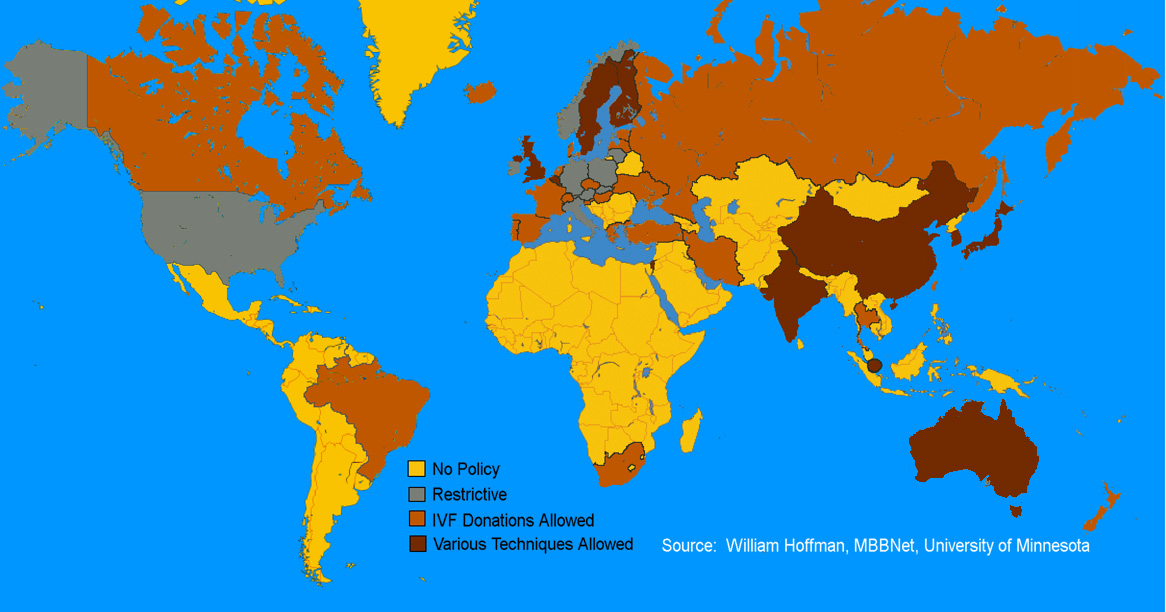 Stem Cell Policy World Stem Cell Map